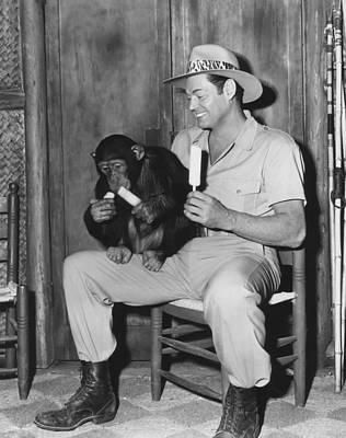1950s Portraits Photograph - Jungle Jim, Johnny Weissmuller by Everett