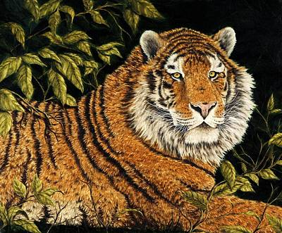Jungle Cat Painting - Jungle Monarch by Rick Bainbridge