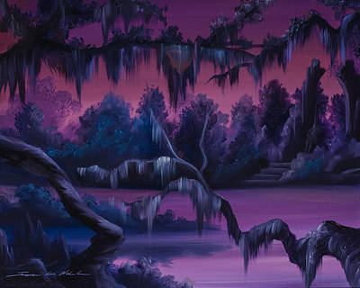 Cemetary Painting - Jungle Of Narnia by James Christopher Hill