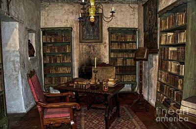Junipero Serra Library In Carmel Mission Print by RicardMN Photography