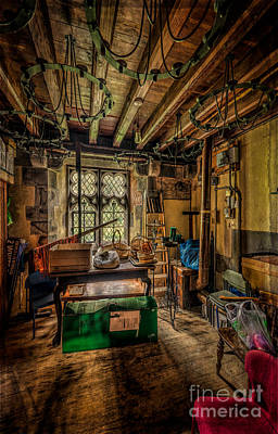 Boiler Photograph - Junk Room by Adrian Evans