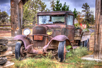 Antique Automobile Photograph - Junk Yard Special by Juli Scalzi