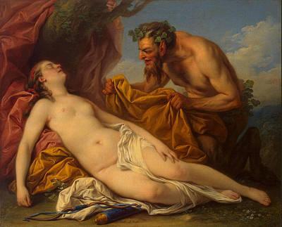 Charles-andre Van Loo Painting - Jupiter And Antiope by Charles-Andre van Loo