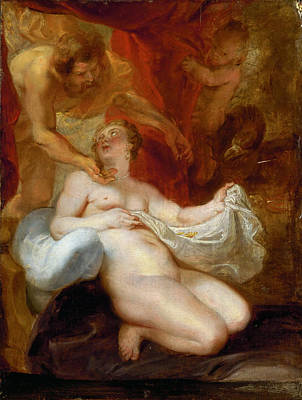Danae Painting - Jupiter And Danae by Peter Paul Rubens
