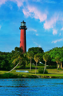 Beautiful Lighthouses Photograph - Jupiter Florida Lighthouse by Laura Fasulo