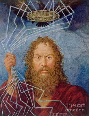Zeus Painting - Jupiter by Hans Thoma