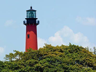 Jupiter Inlet Photograph - Jupiter Inlet Lighthouse by Michelle Wiarda