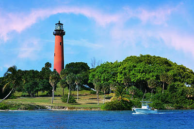 Jupiter Inlet Photograph - Jupiter Lighthouse by Laura Fasulo