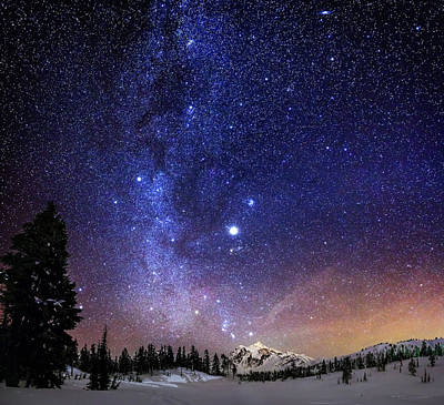 Winter Night Photograph - Jupiter Rising by Alexis Birkill