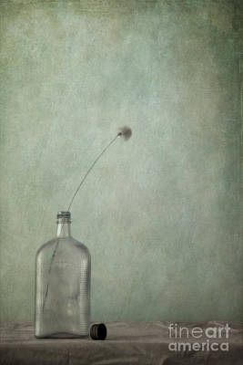 Just An Old Bottle And Its Cap Print by Priska Wettstein