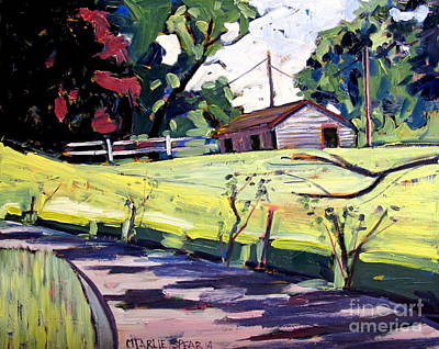 Relating Painting - Just Around Paw Paw Pike by Charlie Spear