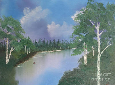 Landscape Painting - Just Around The Bend by Sherry Lasken