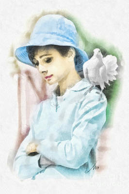 Audrey Hepburn Painting - Just Audrey by Mo T