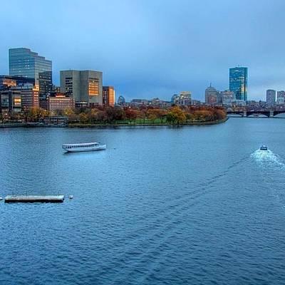 Autumn Photograph - Just Before The Blue Hour....boston Ma by Joann Vitali