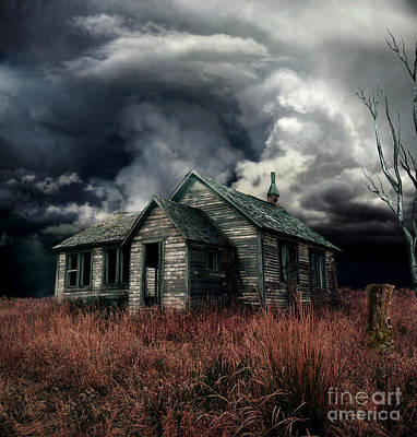 Creepy Digital Art - Just Before The Storm by Aimelle