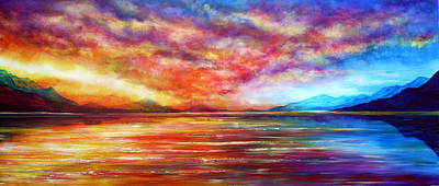 Just Beyond The Sunset Print by Ann Marie Bone