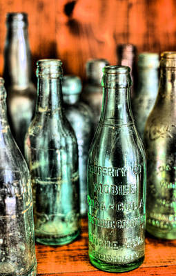 Soda Can Photograph - Just Bottles  by JC Findley