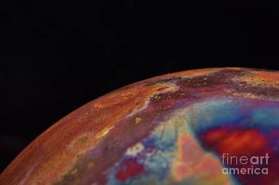 Raku Photograph - Fifth Dimensional Earth by  Sharon Ackley