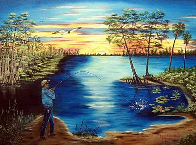Painting - Just Fishing by Riley Geddings