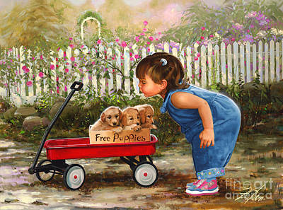 Golden Retriever Painting - Just For Me by Donald Zolan