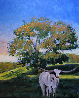 Cow Painting - Just Jake by David Zimmerman