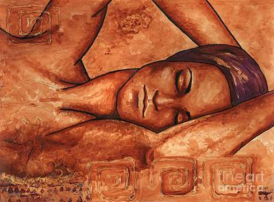 African-american Painting - Just Lay Back And Relax And . . .  by Alga Washington
