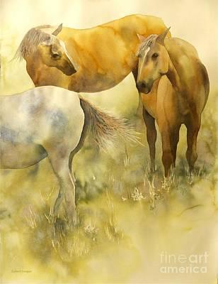 Horse Painting - Just Looking by Robert Hooper