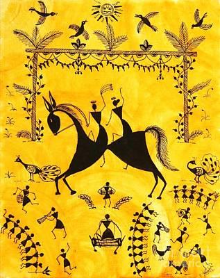 Just Married Print by Anjali Vaidya