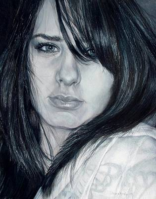 Eye Lashes Drawing - Just Me by Shana Rowe Jackson