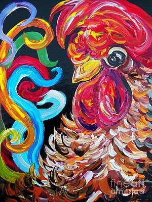 Barnyard Painting - Just Plain Silly by Eloise Schneider