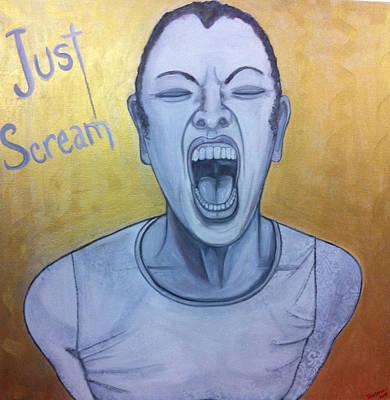Just Scream Print by Darlene Graeser