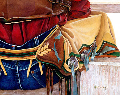 Concho Painting - Just Sittin' Around by JK Dooley