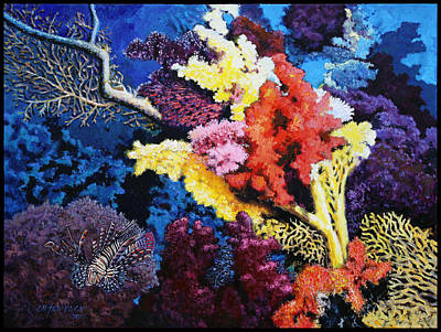 Fish Underwater Painting - Just Trying To Survive by John Lautermilch