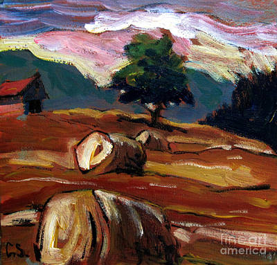 Bales Painting - Just Up The Road by Charlie Spear
