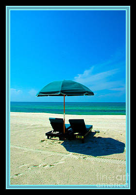 Empty Chairs Photograph - Just You And Me And The Beach by Susanne Van Hulst