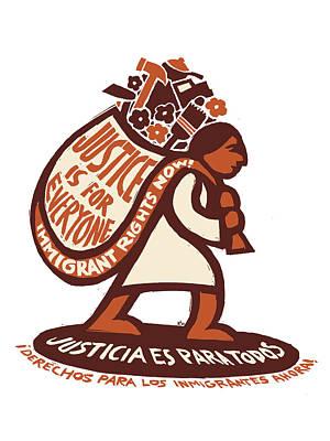 Justice Is For Everyone / Justicia Es Para Todos Print by Ricardo Levins Morales