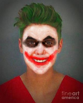 Loser Painting - Justin Bieber Joker by Antony McAulay
