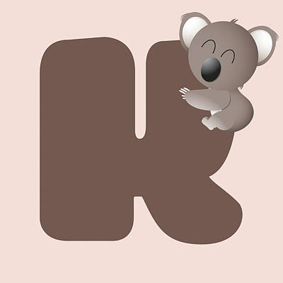 Koala Digital Art - K by Gina Dsgn