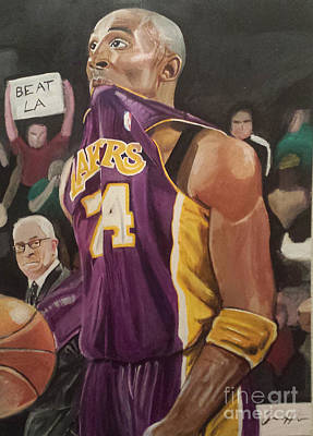 Kobe Painting - One Last Shot by Jason Majiq Holmes