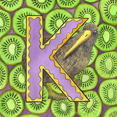 K- Kiwi Print by Catherine G McElroy