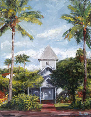 Haleiwa Painting - Kaanapali Church by Stacy Vosberg