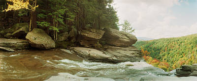 Catskill Photograph - Kaaterskill Falls In Autumn, Catskill by Panoramic Images