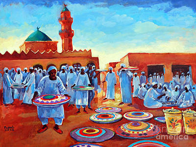 Painting - Kadabas by Mohamed Fadul