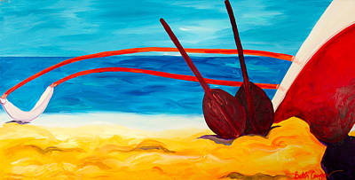 Paddling Painting - Kaeti's Canoe by Beth Cooper