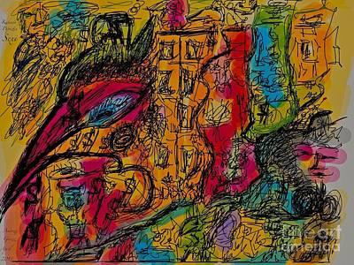 Kakadu  Dream And Desire.  Money Money Money Money??  Nonconformist Art . The Young Rebels Print by  Andrzej Goszcz