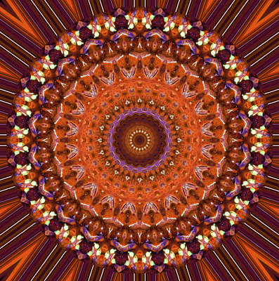 Mandala Photograph - Kaleidoscope 8 by Tom Druin