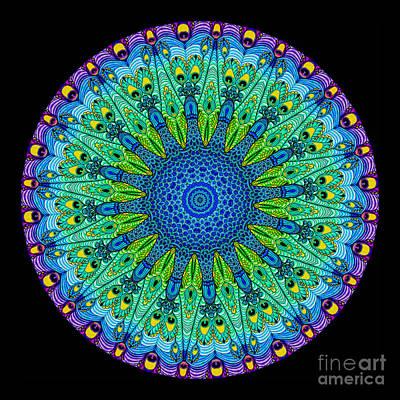 Kaleidoscope Peacock Print by Amy Cicconi