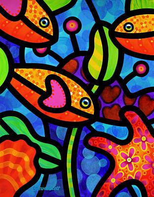 Coral Reef Painting - Kaleidoscope Reef by Steven Scott
