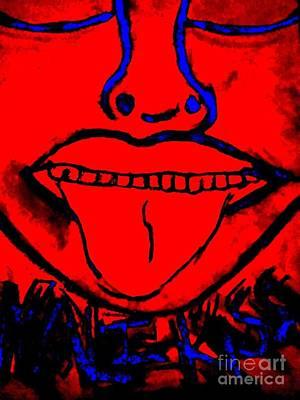 Goddess Digital Art Mixed Media - Kali Kiss by Rhiannon Wales