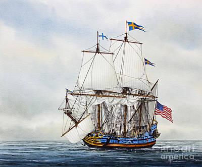 Sailing Vessels Painting - Kalmar Nyckel by James Williamson